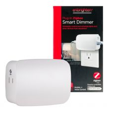 Enbrighten Zigbee Plug-In Smart Dimmer, Dual Controlled Outlets, White