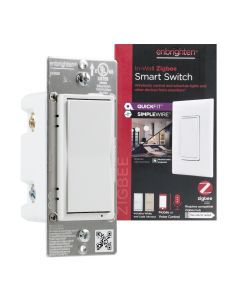 Enbrighten Zigbee In-Wall Smart Switch with QuickFit™ and SimpleWire™, White/Almond