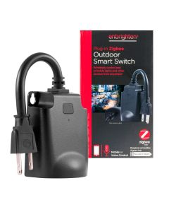 Enbrighten Zigbee Plug-in Outdoor Smart Switch, Black